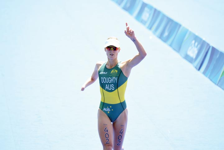 Kate Doughty- after winning race